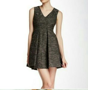Mcginn Sparkly Tweed Fit and Flare Dress